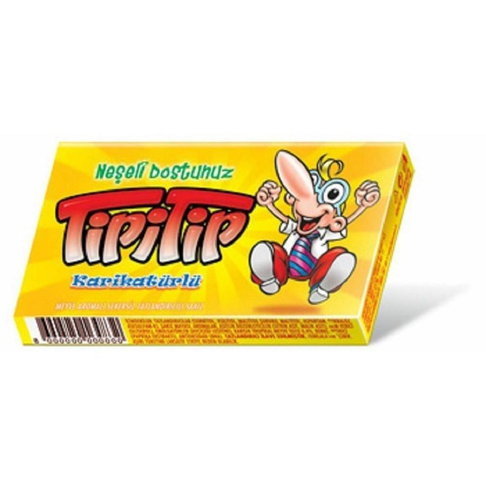 жевательная резинка со вкусом мяты конфитрейд angry birds movie 14 г Amgum Жевательная резинка TipiTip Retro Yellow со вкусом тропические фрукты