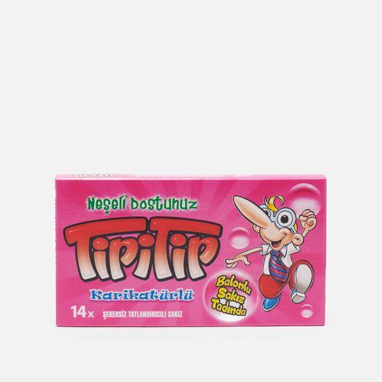 жевательная резинка со вкусом мяты конфитрейд angry birds movie 14 г Amgum Жевательная резинка TipiTip Retro Pink со вкусом баблгам-ментол