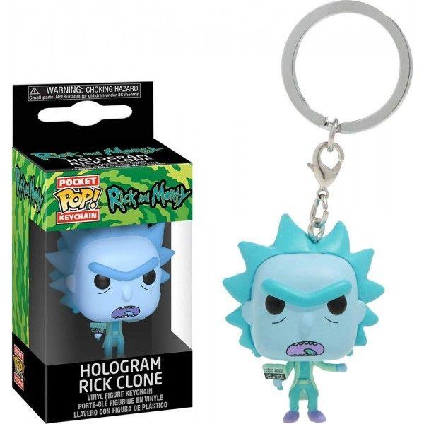 Funko POP! Брелок Funko POP! Рик и Морти: Голограмма Рика