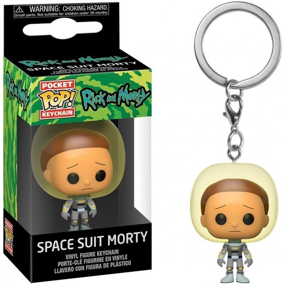 Funko POP! Брелок Funko POP! Рик и Морти: Космический костюм Морти
