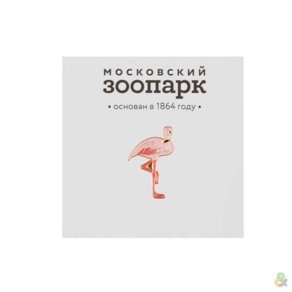 Heart Of Moscow Значок металлический Фламинго