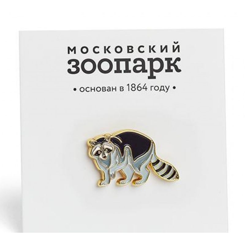 Heart Of Moscow Значок металлический Енот