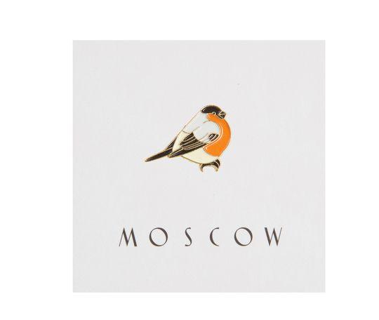 Heart Of Moscow Значок металлический Снегирь