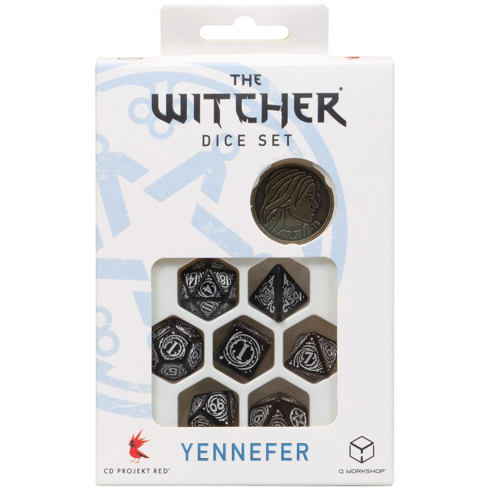 Q-Workshop Набор кубиков The Witcher: Yennefer – The Obsidian Star, 7 шт.
