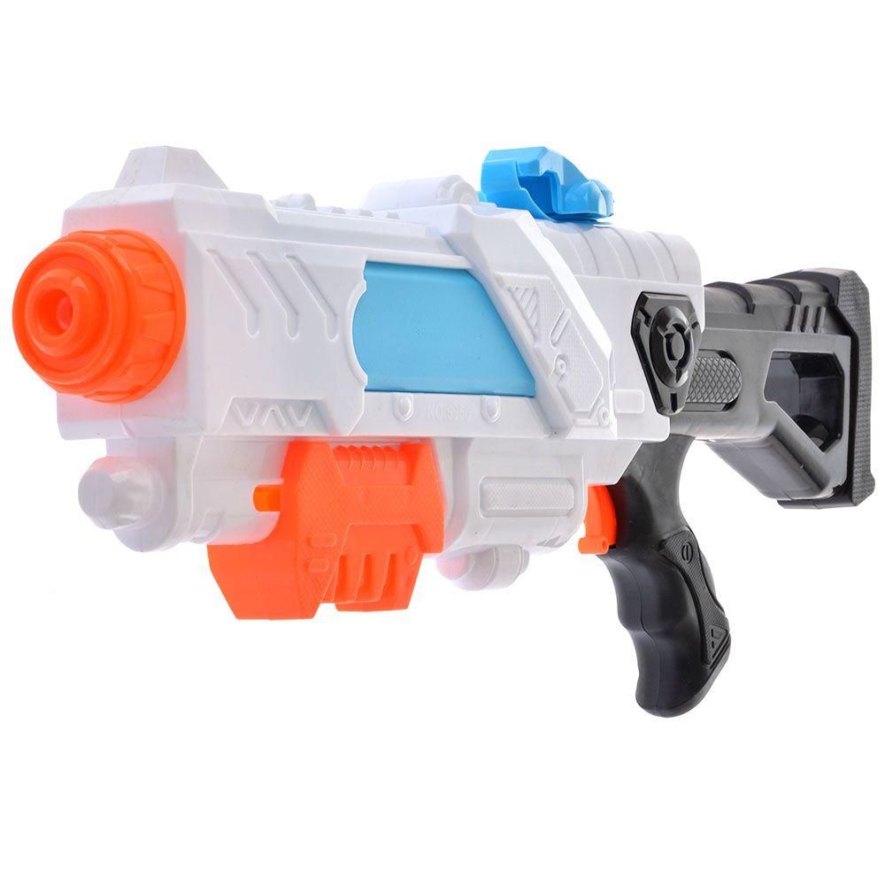 BONDIBON Водный пистолет с помпой Наше Лето (бело-оранжевый)
