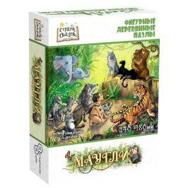 """Фигурный деревянный пазл """"Страна сказок: Маугли"""""""