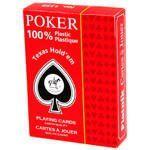 Карты игральные Пластик Покер, Джамбо Индекс