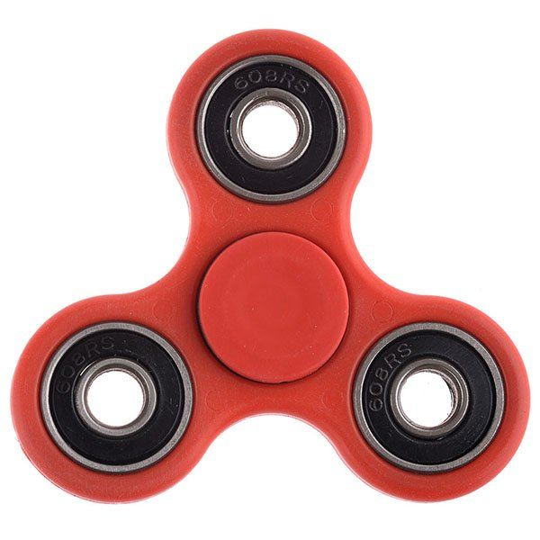 Fidget Cube Спиннер Chrome steel (Красный)