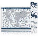 Скретч-карта мира Present Edition (Синяя)
