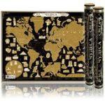Скретч-карта мира Чудеса света. Black Edition