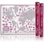 Скретч-карта мира Чудеса света. Ruby Edition