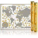 Скретч-карта мира Чудеса света. Amber Edition