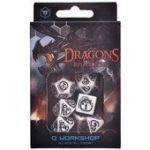Набор кубиков Драконьи (белый с черным)