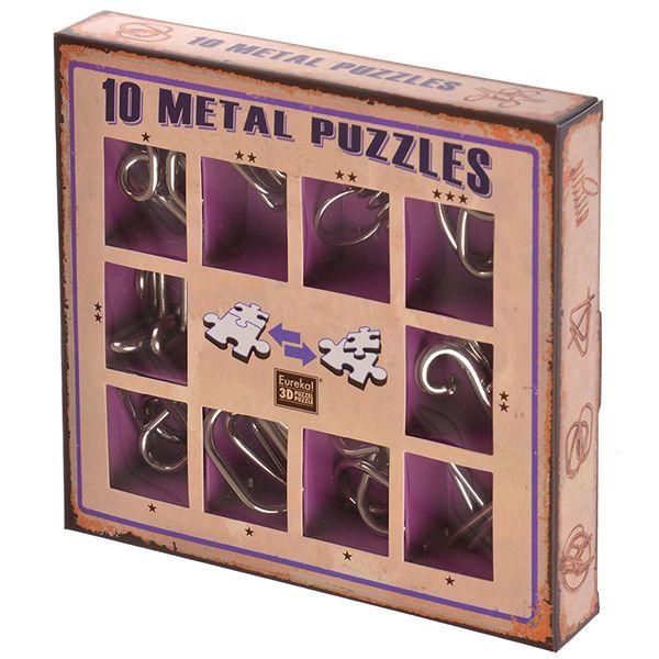 Huzzle Cast Набор из 10 металлических головоломок (фиолетовый) недорого