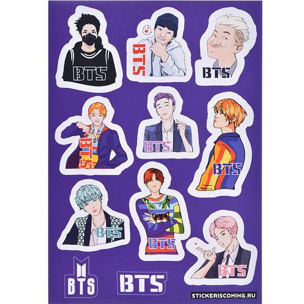 Stickeriscoming Набор стикеров «BTS» stickeriscoming набор стикеров skam